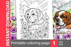 Saint Bernard coloring page Product Image 1