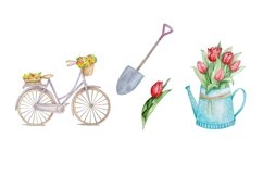 Watercolor Spring Clipart Set Product Image 3