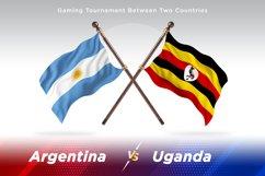 Argentina vs Uganda Two Flags Product Image 1