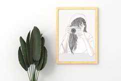 Art Print - Girl secretly taking pictures Product Image 2