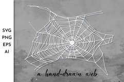 Spider web SVG. Spiderweb. Cobweb. Halloween. Spooky SVG Product Image 1