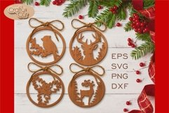 Christmas Tree Decorations. Christmas Bauble. Laser cut SVG Product Image 2
