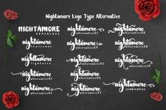 Nightamore Brush Calligraphy (Bonus Font) Product Image 4