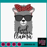 Bad Mama Llama SVG DXF PNG EPS Commercial Product Image 2