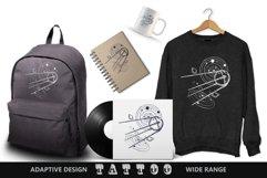 Sputnik space ship tattoo Product Image 5