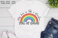 Love like a Rainbow SVG, Valentine's cut file, Love svg Product Image 2