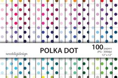 Seamless polka dot digial paper Product Image 1