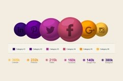 Social Media Infographic Elements Product Image 2