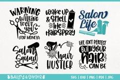 Hairdresser SVG Bundle | Hair Stylist & Hair Salon SVG Files Product Image 5