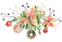 Christmas bouquet freezing day Watercolor png Product Image 1