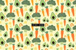 Funny fruits & vegetables, Seamless pattern. Product Image 6