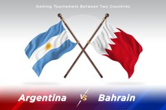 Argentina vs Bahrain Two Flags Product Image 1