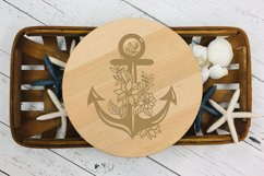 Floral Anchor Intricate Cut File - SVG Product Image 4