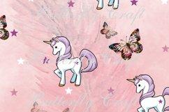 Unicorns Digital Paper , Scrapbook unicorn paper Product Image 3