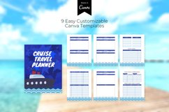 Cruise Travel Planner CUSTOMIZABLE CANVA TEMPLATE Product Image 3