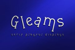Gleams Serif Playful Display Product Image 1