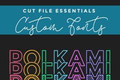 Polkami - a polka dot mirror font with stacked letters OTF Product Image 3