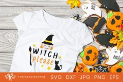 Halloween Witch Svg Cut File Witch Please Cute Clipart Product Image 2