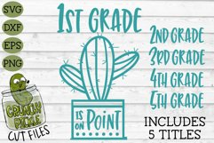 Cactus Grades On Point Elementary School SVG Product Image 1