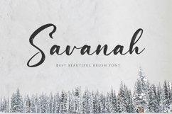 Web Font Savanah, a Brush Script Font Product Image 1