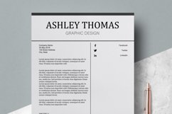 Resume | CV Template Cover Letter - Ashley Thomas Product Image 4