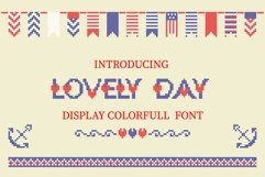 LOVELY-DAY-COLOR-CROSSSTICH OTF-SVG  multicolor font Product Image 1