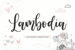 Lambodia Cute Modern Handwritten Font Product Image 1