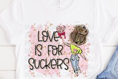 Love Is For Suckers 2 Anti Valentine Sublimation Design Product Image 2