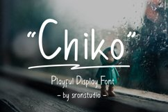 Chiko -  A playful  display font Product Image 1
