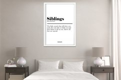 Siblings Definition Print Frame not included Product Image 2