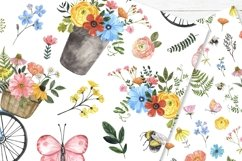 Spring Floral Digital Papers Watercolor Cute Pattern Product Image 4