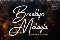 Monoline Script Font - Brooklyn Makayla Product Image 1