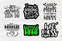 Mom Signs SVG Bundle, Funny Mom Shirt, Svg Cut Files Cricut Product Image 5