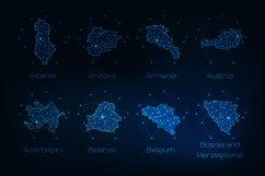 Europe countries futuristic maps. Product Image 10