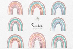 Watercolor boho rainbow Product Image 2