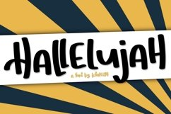 Hallelujah a Hand Lettered Font Product Image 1
