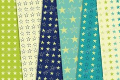 Navy blue and green seamless backgrounds, stars papers Product Image 2