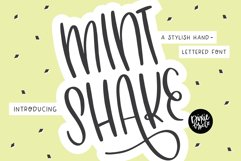 MINT SHAKE a Stylish Hand Lettered Font Product Image 1
