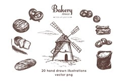 Bakery and bread vintage hand drawn collection Product Image 1