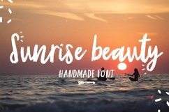 Sunrise | Handmade font and extras! Product Image 1