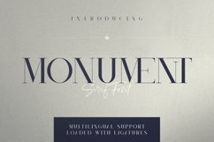 Monument - All Caps Serif Font Product Image 1