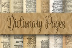 Dictionary Pages Digital Paper - 2 Sizes - 8.5x11 and 12x12 Product Image 1