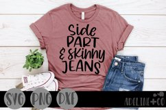 Side part and skinny jeans, SVG, funny Product Image 1