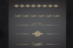 22 Page Dividers and Borders, Gold Foil Clipart Dividers Product Image 4