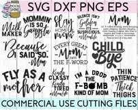 Mom Shirt Bundle of 20 SVG DXF PNG EPS Cutting Files Product Image 2
