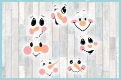 Snowman Face Bundle SVG Dxf Eps Png PDF Files for Cricut Product Image 2