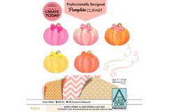 Girl Pumpkin bow Clipart Product Image 1