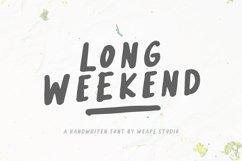 Long Weekend - Handwritten Font Product Image 1