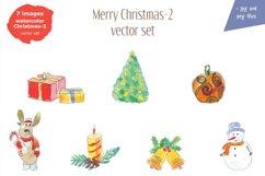 Watercolor Christmas-2bonus! Product Image 5