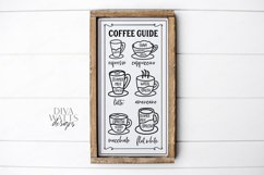 Coffee Bar - Guide Cheat Sheet - Farmhouse Kitchen Sign SVG Product Image 3